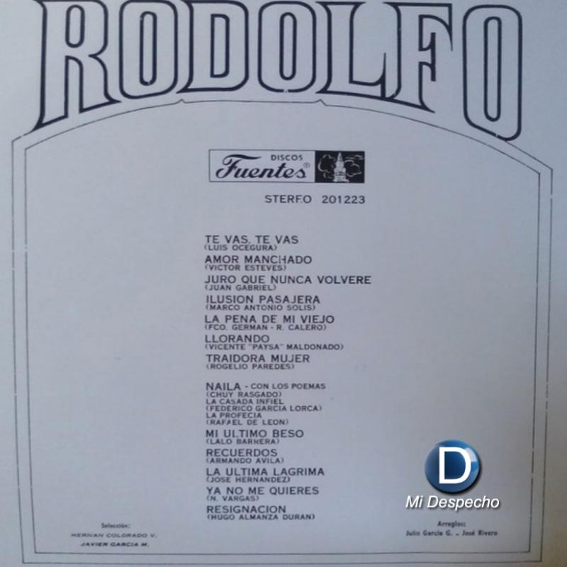 Rodolfo Aicardi La Pena De Mi Viejo Trasera