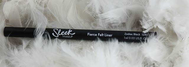 Sleek Fierce felt liner / Je tente encore le liner feutre !
