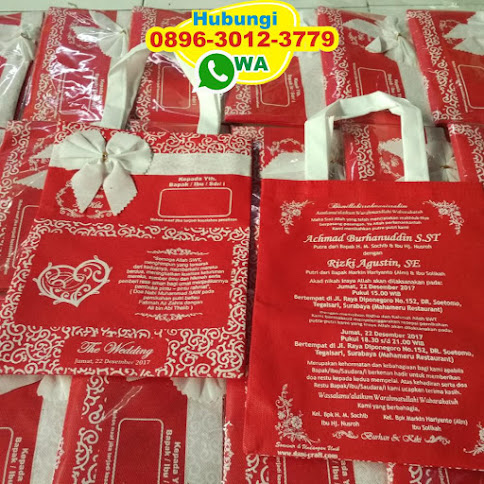 toko undangan tas bahan spunbond harga murah 50967