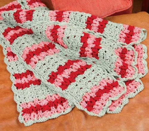 Shells and Rings Afghan - Free Pattern