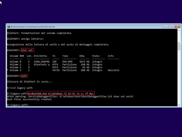 Creazione file di boot