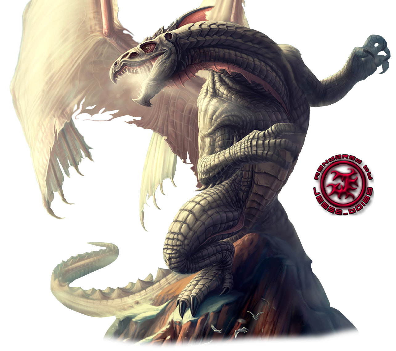 Render-Dragon en Roca
