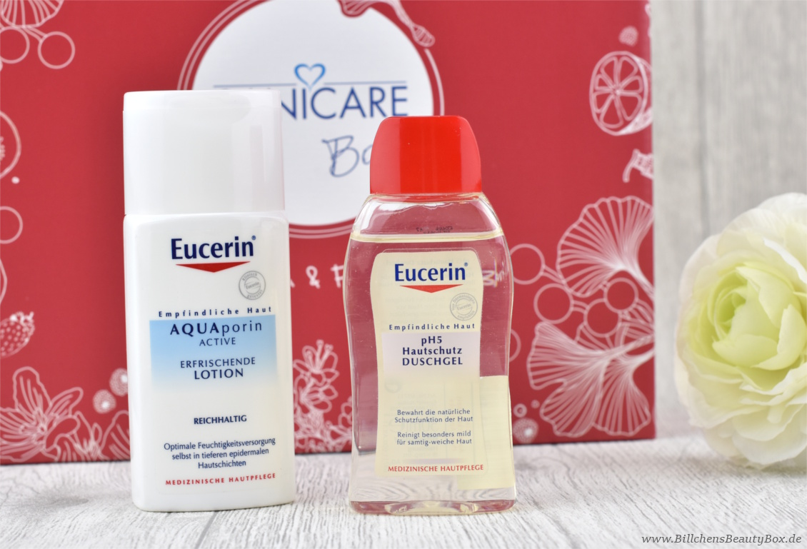 Sanicare Box Januar 2018 - Eucerin & Friends - Eucerin Aquaporin Lotion und ph5 Duschgel