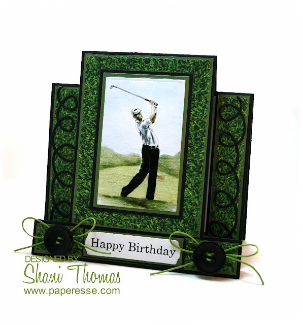 Male golf lovers birthday step card, by Paperesse.