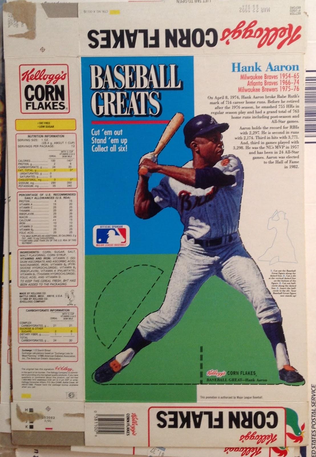 Run Fore Kelloggs Baseball Cards 1991 Kelloggs Corn