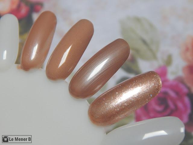 comparação de esmaltes nudes