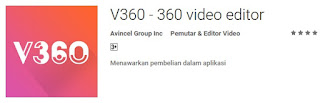 edit video 360 derajat melalui android