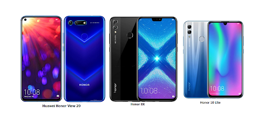 Huawei Honor 10 Lite Vs Huawei Honor View 20 Vs Huawei Honor 8X Comparisons