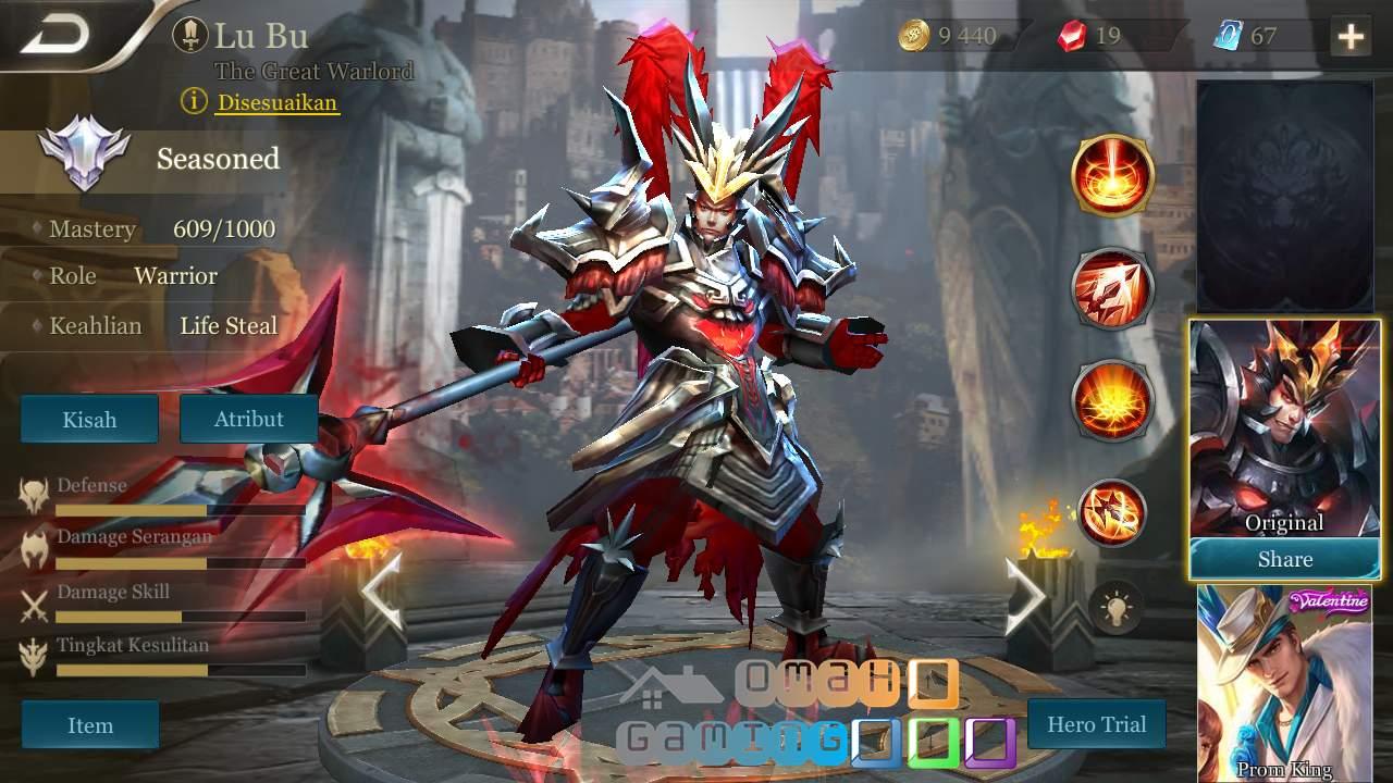 Review Hero Lu Bu The Peerless Warlord AOV (Arena of Valor)