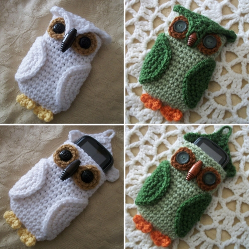 Owl Cell Phone Cozy - Free Crochet Pattern