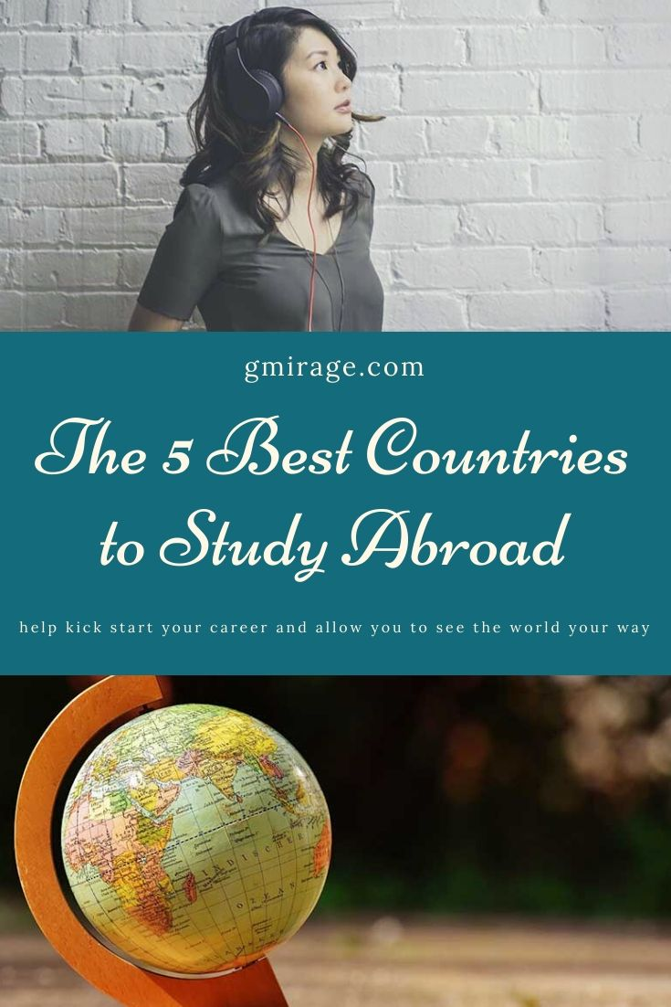 Here are five of the best countries to study abroad, to help kick start your career and allow you to see the world your way.