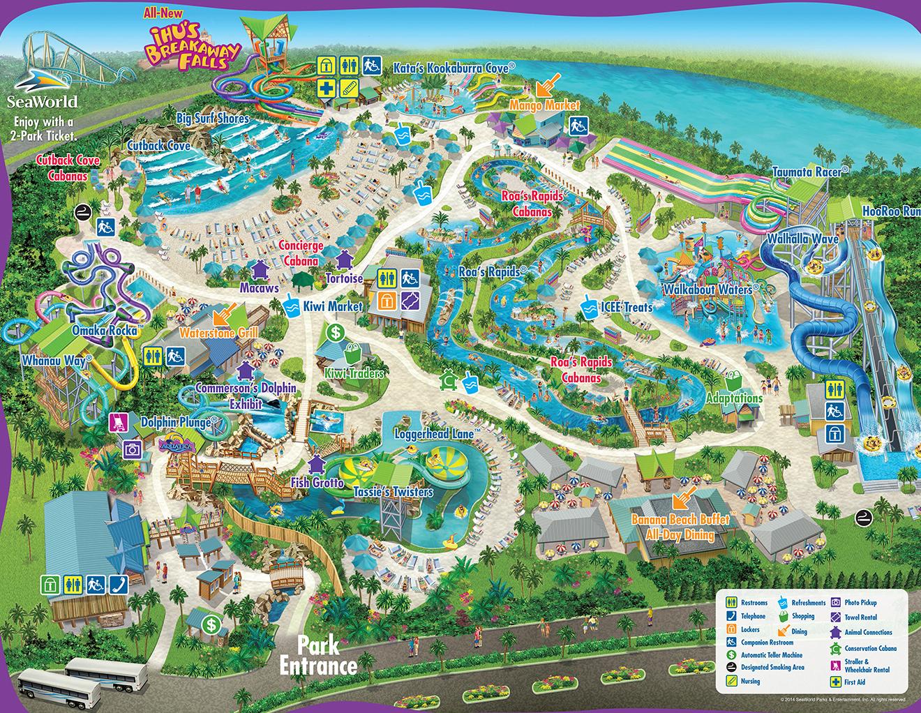 Mapa Aquatica Orlando