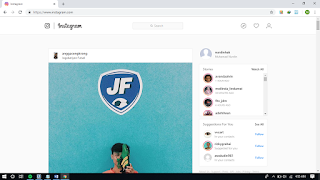 Cara Upload Foto Instagram melalui PC