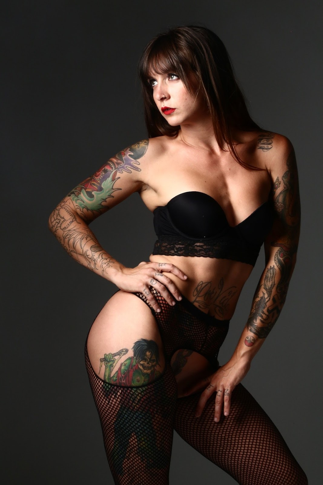 Catrina Suicide Hottest Tattoo Models