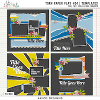Torn Paper Play 04 by Akizo Designs