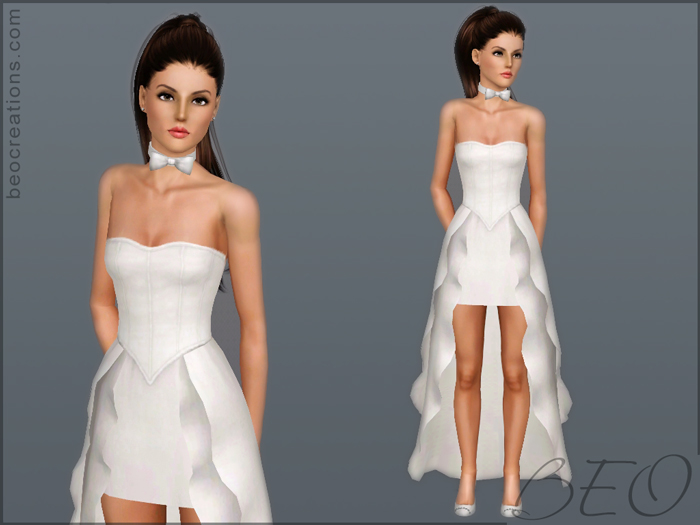 My Sims 3 Blog: Wedding Dress 19 By BEO
