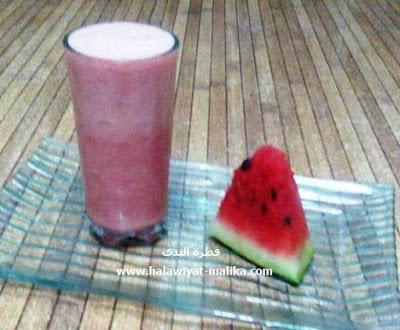 مشروب البطيخ الأحمر سريع ولذيذ