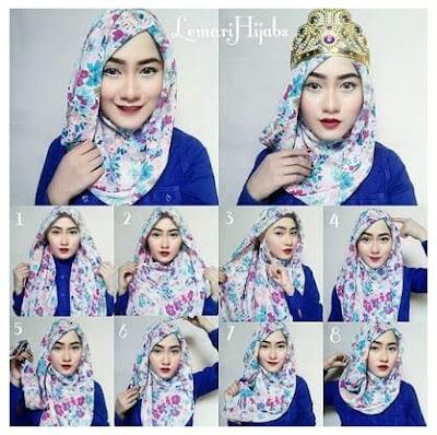 Tutorial Hijab Pashmina Kain Sifon alias Chiffon yang Modern dan Simple untuk Wajah Bulat