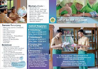 PENERIMAAN PESERTA DIDIK BARU TAHUN PELAJARAN  2019-2020