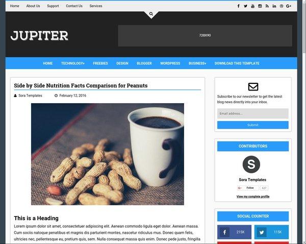 Jupiter Best Free Blogger Template