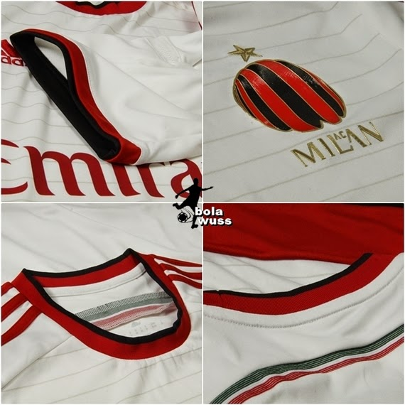 Detail Jersey Ac Milan Away Casa Milan 2015 Official  Bola Wuss