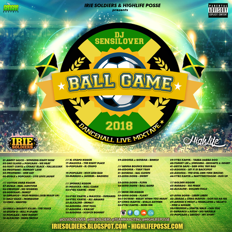 BALL GAME - DANCEHALL LIVE MIXTAPE 2018 (DJ SENSILOVER) | IRIE