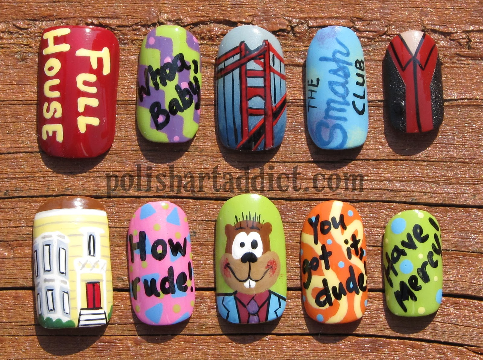 Full House Nail Art