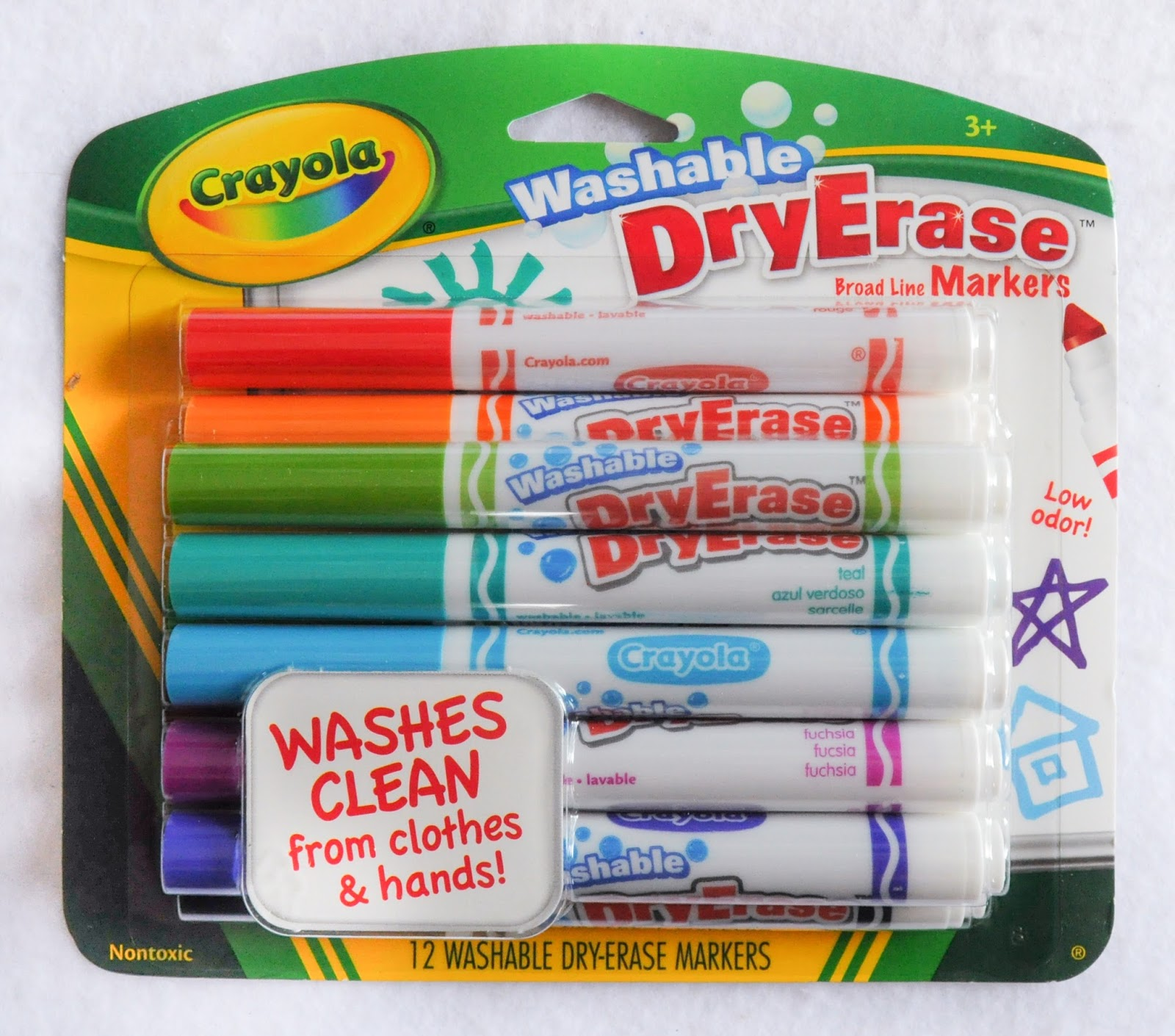 12 Count Crayola Washable DryErase Markers: What's Inside