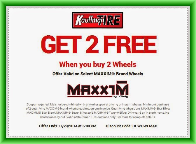 kauffman tire discount coupon code