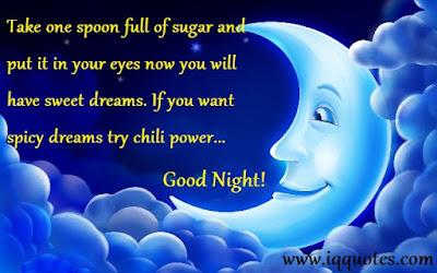 funny good night take one spoon full of sugar