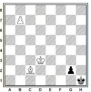 Estudio artístico de ajedrez compuesto por L. Silaev (2º Premio, Schachmaty 1981)
