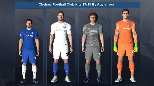 Chelsea 2017-18 Kit PES 2017