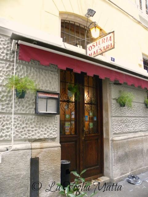 """Osteria """"Ai Maestri """" a Trieste"""