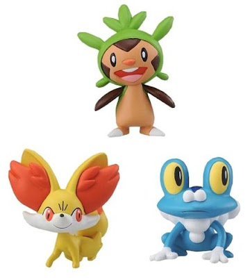 Pokemon Figure Tomy MC Chespin  Fennekin Froakie
