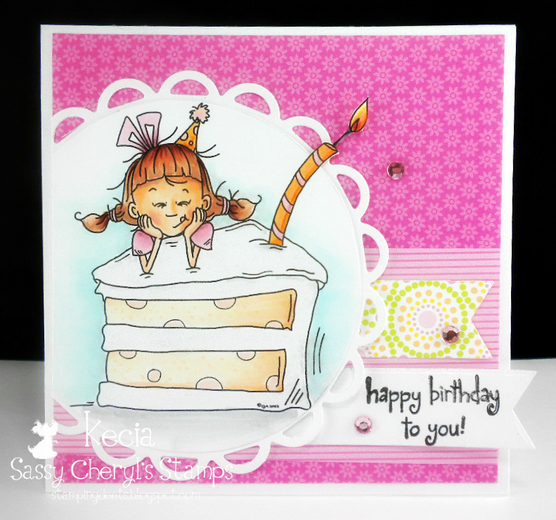 Sassy Cheryl's, Kecia Waters, Copic, birthday card