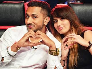 Yo Yo Honey Singh with his wife in India's RAW Star