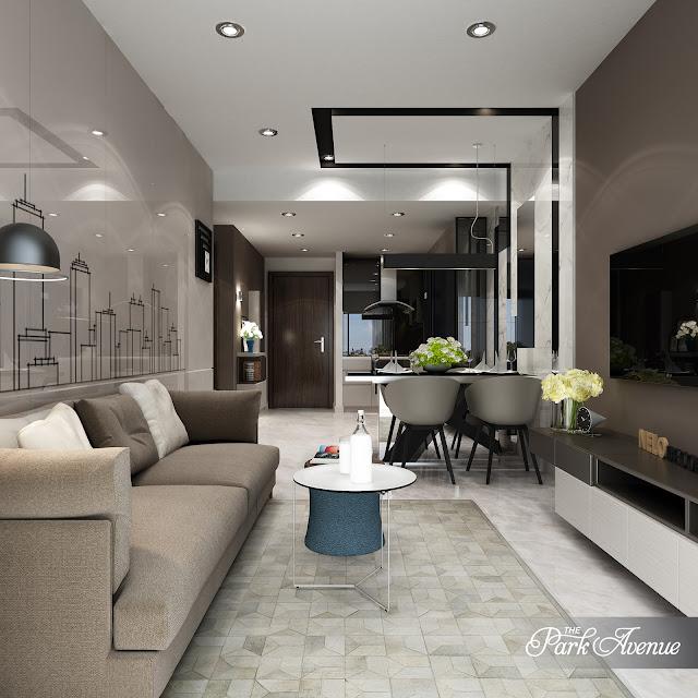 Phòng khách căn hộ The Park Avenue