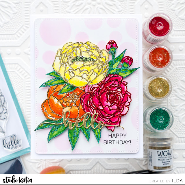 WOW! Embossing Powder and Studio Katia Collaboration Blog Hop by ilovedoingallthingscrafty.com