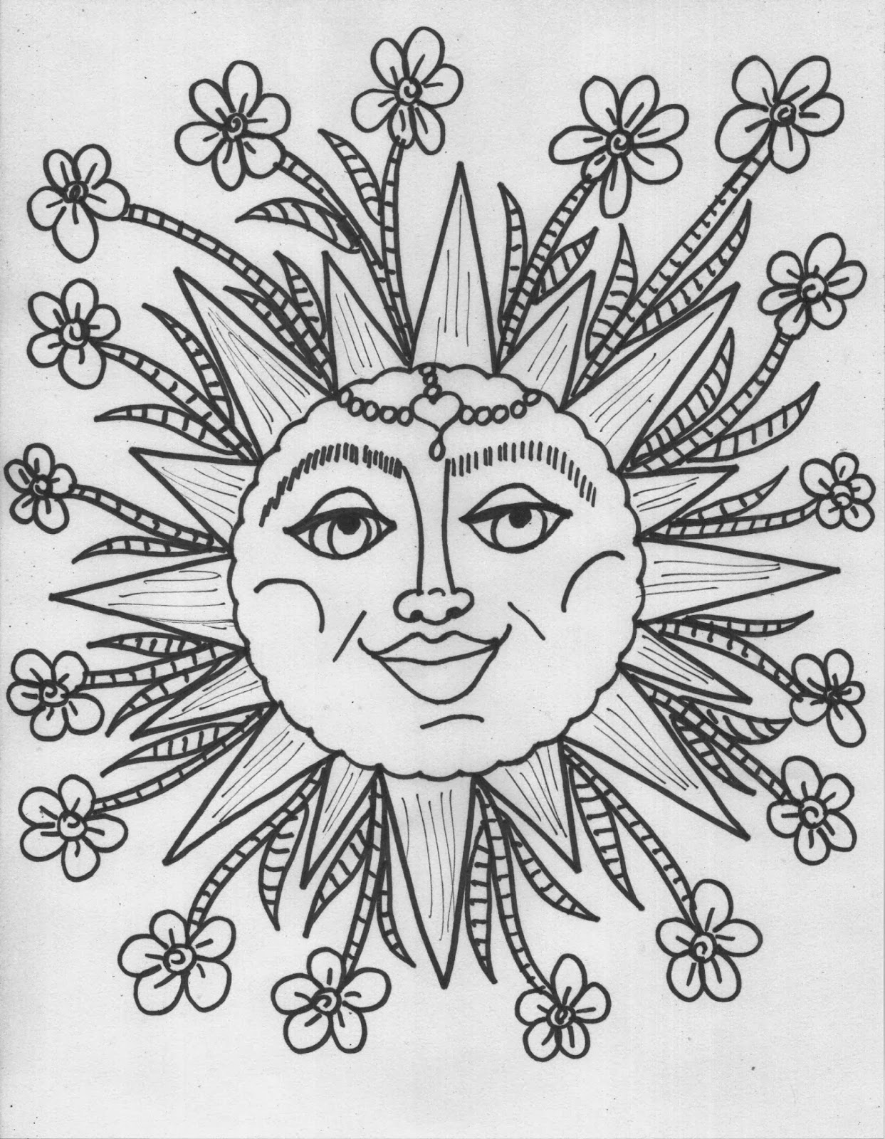 psychedelic hippie coloring pages simonschoolblog com - Psychedelic Hippie Coloring Pages
