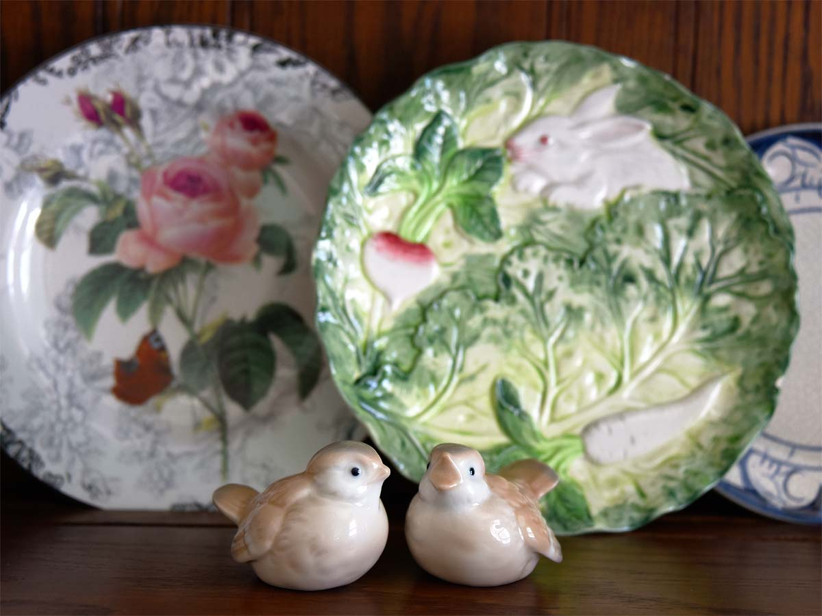 Shafford bunny and vegetable china
