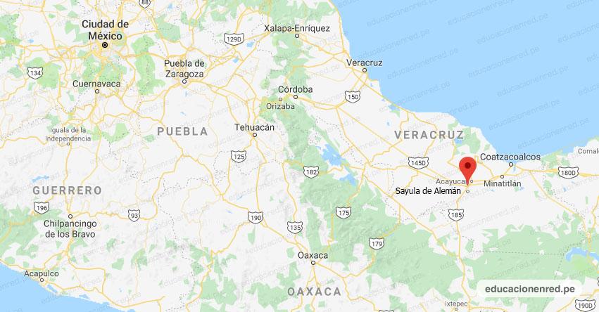 Temblor en México de Magnitud 4.0 (Hoy Sábado 15 Agosto 2020) Sismo - Epicentro - Sayula de Alemán - Veracruz de Ignacio de la Llave - VER. - SSN - www.ssn.unam.mx