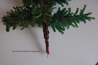Дерево из бисера елочка из бисера. Мастер-класс