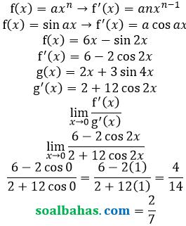 bahas limit turunan fungsi