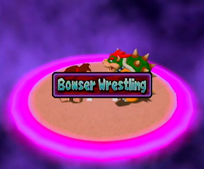 Mario Party 4 Bowser Wrestling Donkey Kong minigame