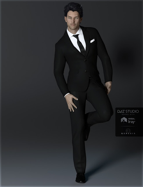H-C Business Suit A for Genesis 3 Male
