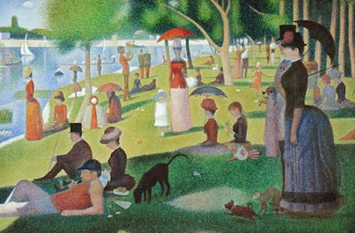 Un après-midi de dimanche sur l'île La Grande Jatte - Georges Seurat