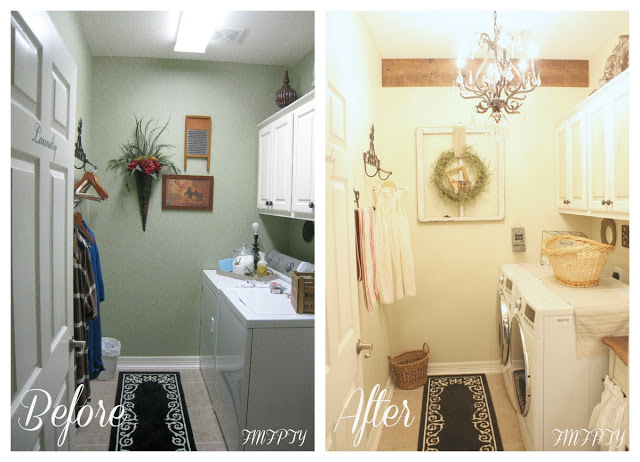 Before-After -Laundry -Room -Makeover-French-Farmhouse