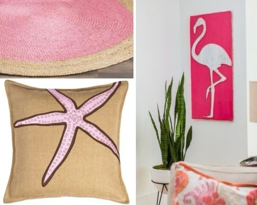 Chic Pink Coastal Decor Ideas
