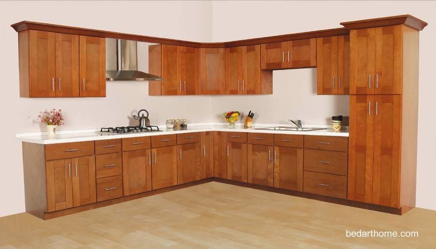 Modelo de mobiliario moderno de cocina en madera