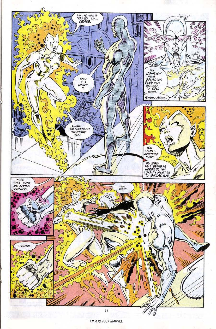 Read online Silver Surfer (1987) comic -  Issue #67 - 23